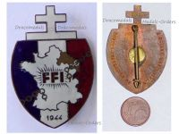 France WWII Free French of Interior FFI Region C Badge Resistance Numbered