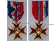 France Britain WWII Franco-British Association Officer's Cross 1940 1944 1st Type