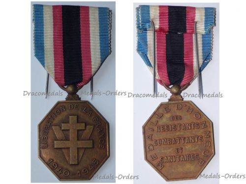 French WWII Medal of Honor for the Liberation of France for the Resistance Combatants & Medics