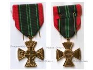 France WW2 Cross Resistance Volunteers WWII 1939 1945 French Medal Decoration Award German Occupation Paris Mint