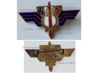 France WWII Free French Forces Wings FFL Badge British Made Numbered