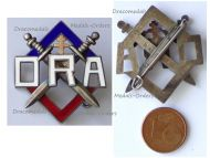 France WWII Badge ORA Resistance Organization of the Army LOW Numbered
