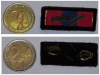 France Ribbon Bar National Defense Medal  with Clasps Infantry French Occupation Forces in Germany