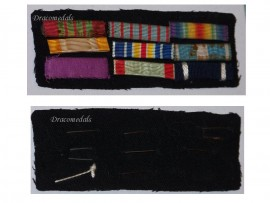 France WW1 War Cross Order Cambodia Colonial Wound Victory Military Medal Ribbon Bar WW2 French Decoration