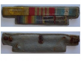 France WWI Victory WWII Valor Discipline War Cross Colonial Commemorative Medal Ribbon Bar 4 Clasps Africa Italy Liberation Germany