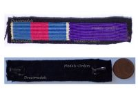 France WWII Ribbon Bar 2 Medals (Knight's Cross Order Military Merit Knight's Badge of the Academic Palms)