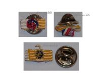 France WW2 Franco British Association Officer's Cross Lapel pin Boutonniere WWII French Britain Decoration