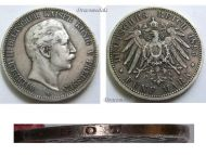 Germany Prussia 5 Mark 1895 A Silver Coin Kaiser Wilhelm II Berlin Mint