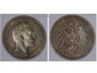 Germany Prussia 5 Mark 1907 A Silver Coin Kaiser Wilhelm II Berlin Mint