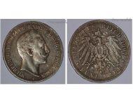 Germany Prussia 5 Mark 1907 A Silver Coin Kaiser Wilhelm II Berlin Mint