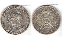 Germany 5 Mark Coin 1901 Prussia 200th Anniversary German Empire Kaiser Wilhelm II Berlin Mint