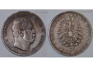 Germany Prussia 5 Mark 1874 A Silver Coin Kaiser Wilhelm I Berlin Mint