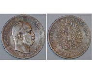 Germany Prussia 5 Mark 1875 B Silver Coin Kaiser Wilhelm I Hanover Mint