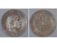 Germany Prussia 5 Mark Coin 1875 B  Kaiser Wilhelm I Hanover Mint