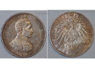 Germany Prussia 5 Mark 1914 A Silver Coin Kaiser Wilhelm II Berlin Mint