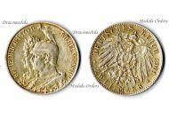 Germany 2 Mark Coin 1901 Prussia 200th Anniversary German Empire Kaiser Wilhelm II Berlin Mint