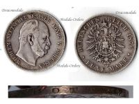 Germany Prussia 5 Mark 1876 B Silver Coin Kaiser Wilhelm I Hanover Mint