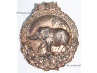 Germany WW1 Africa Colonial Elephant Badge Military Medal 1922 South Seas Prussia Weimar Republic Silvered Example