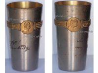 Germany Austria WW1 Kaiser Wilhelm FJ patriotic Cup Officers Goblet WWI KuK 1914 1916 Great War Inscription Small Type