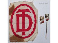Germany WW1 Gymnastic Sport Federation pins patch Turnebund WWI 1914 1918 Decoration Sports