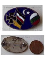 Germany WWI Central Powers Flags Iron Cross Cap Badge Oval Marked Ges Gesch