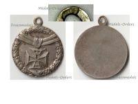 Germany WW1 Silver Patriotic Pendant Iron Cross 1914 Kollmar & Jourdan