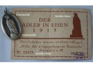 """Germany WWI Patriotic Medal for the Aid & Relief of the German Prisoners of War in Captivity """"The Eagle in Chains 1915"""" with Diploma"""