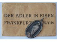 """Germany WWI Patriotic Medal for the Aid & Relief of the German Prisoners of War in Captivity """"The Eagle in Chains 1915"""" with Envelope"""