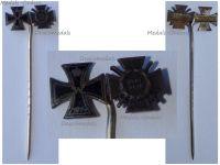Germany WW1 Iron Cross Hindenburg Cross with Swords 1914 1918 Set Stickpin MINI