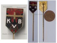 Germany Prussia WWI Catholic Association Badge Stickpin KVB Deo et Patriae