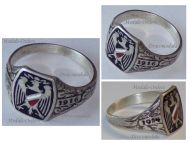 Germany WW1 Ring Patriotic Prussian Eagle Flag Prussia Trench Art 1914 1916 German Silver 800 Great War 1918