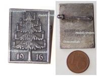 Germany WWI Christmas Tree 1916 Cap Badge by Deschler