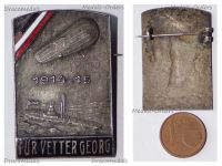 Germany WWI Imperial Navy Zeppelin Uboat Cap Badge  For Cousin George 1914-15