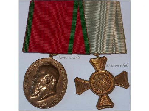 Germany Bavaria WW1 Prince Regent Luitpold 1905 Military Cross 1st Class Medals set Bavarian Decoration WWI