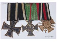 Germany WW1 Anhalt Friedrich Iron Cross Military War Merit Medal Hindenburg set 1914 1918 German Great War