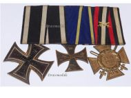 Germany WW1 Brunswick Ernst August Iron Hindenburg Cross Military Medals set German 1914 1918 Great War