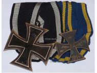 Germany WW1 Brunswick Ernst August EA2 Iron Cross EK2 Military Medals set German WWI 1914 1918 Great War