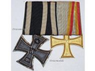 Germany WW1 Iron Cross EK2 Mecklenburg Friedrich Franz War Merit FF2 Military Medals WWI 1914 1918 German