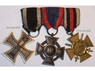 Germany WW1 Iron Oldenburg Friedrich August Merit Hindenburg Cross EK2 FA2 Military Medals set 1914 1918 Decoration