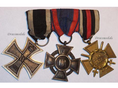 Germany WW1 Iron Oldenburg Friedrich August Merit Hindenburg Cross EK2 FA2 Military Medals set 1914 1918 Decoration