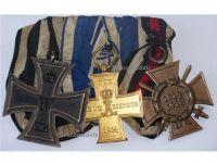 Schaumburg Lippe WW1 Iron Cross Loyal Service Hindenburg Military Medals set Great War Decoration