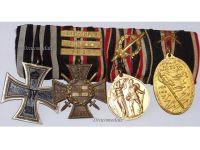Germany Navy WW1 Medal Marine Naval Flanders Iron Cross 3 bars Yser Ypres set WWI 1914 1918 Great War