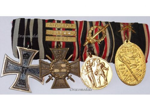 Germany Navy WW1 Medal Marine Naval Flanders Iron Cross 3 bars Yser Ypres set WWI 1914 1918 Great War