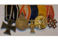 Germany Austria WW1 Military Merit Iron Cross Long Service Wilhelm Centenary Medals set 1914 1918 Great War