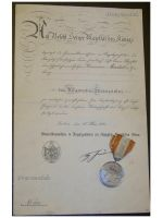 Germany WW1 Prussia General Honor Decoration II Cl. Military Medal WWI 1914 Prussian German Diploma 1916