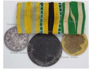 Germany WW1 War Merit Medal Combatants Zinc Saxe Meiningen Friedrich Saxony August Silver Long Military Service I Class Set