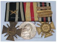 Germany Navy WW1 Medal Marine Naval Flanders Cross Hindenburg Baden Merit 4 bars Yser Ypres Somme Offensive set WWI 1914 1918 Great War