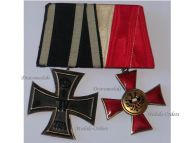 Germany WWI Set of 2 Medals (Hanseatic Cross of Lubeck, Iron Cross 2nd Class Maker KO)