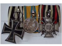 Germany Saxony WWI Iron Cross Hindenburg Friedrich August Bronze Medal Merit set Military Medals German Decoration