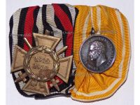 Germany Prussia Rescue from Danger Medal Merit Silver 3rd Type 1875 1907 Hindenburg Cross Set German WW1 Great War 1914 1918